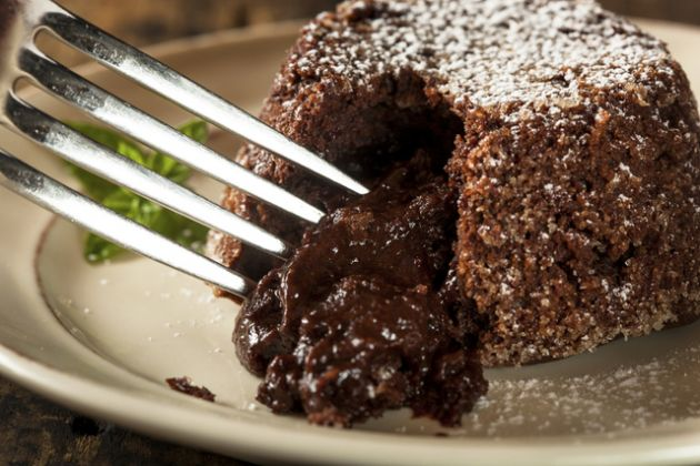 Receta de torta lava de chocolate 2