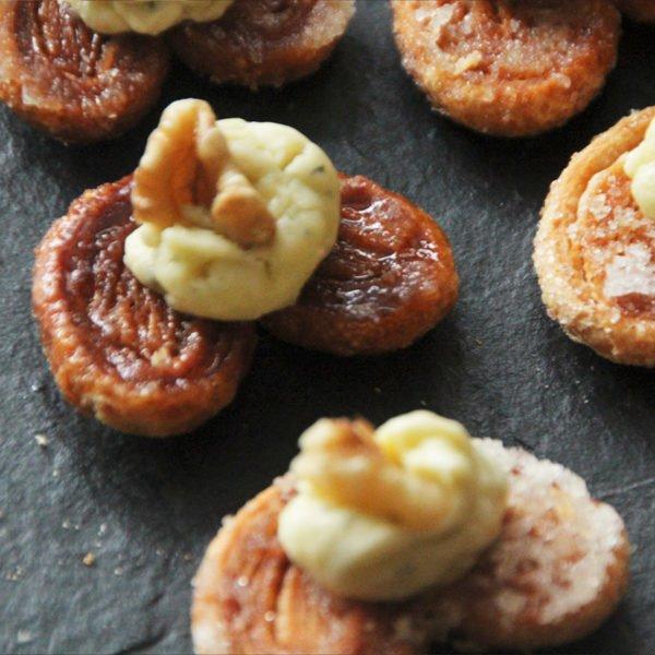 Palmitas con roquefort y nueces 1